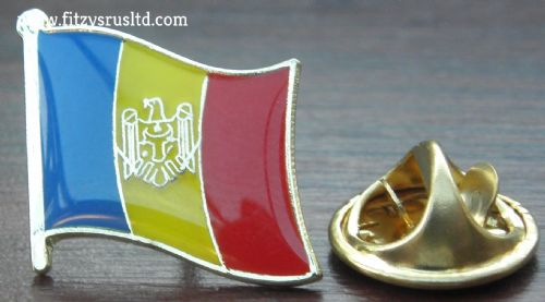 Moldova Moldovan Country Flag Lapel Hat Cap Tie Pin Badge Republica Moldova New